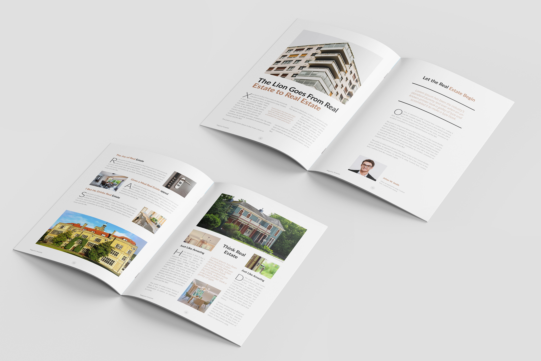 Real Estate Minimal Magazine Template example image 7