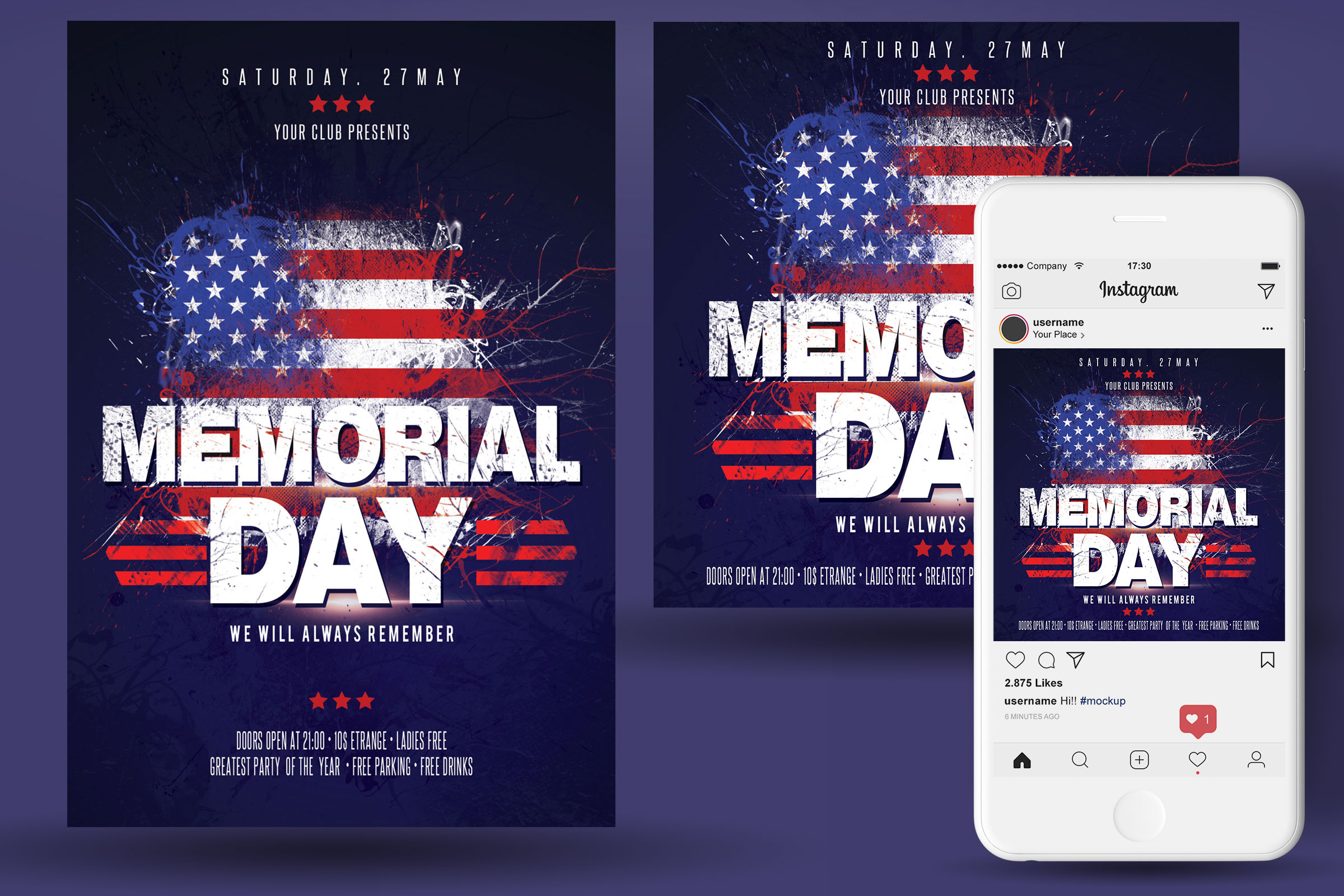 Memorial Day Flyer example image 2