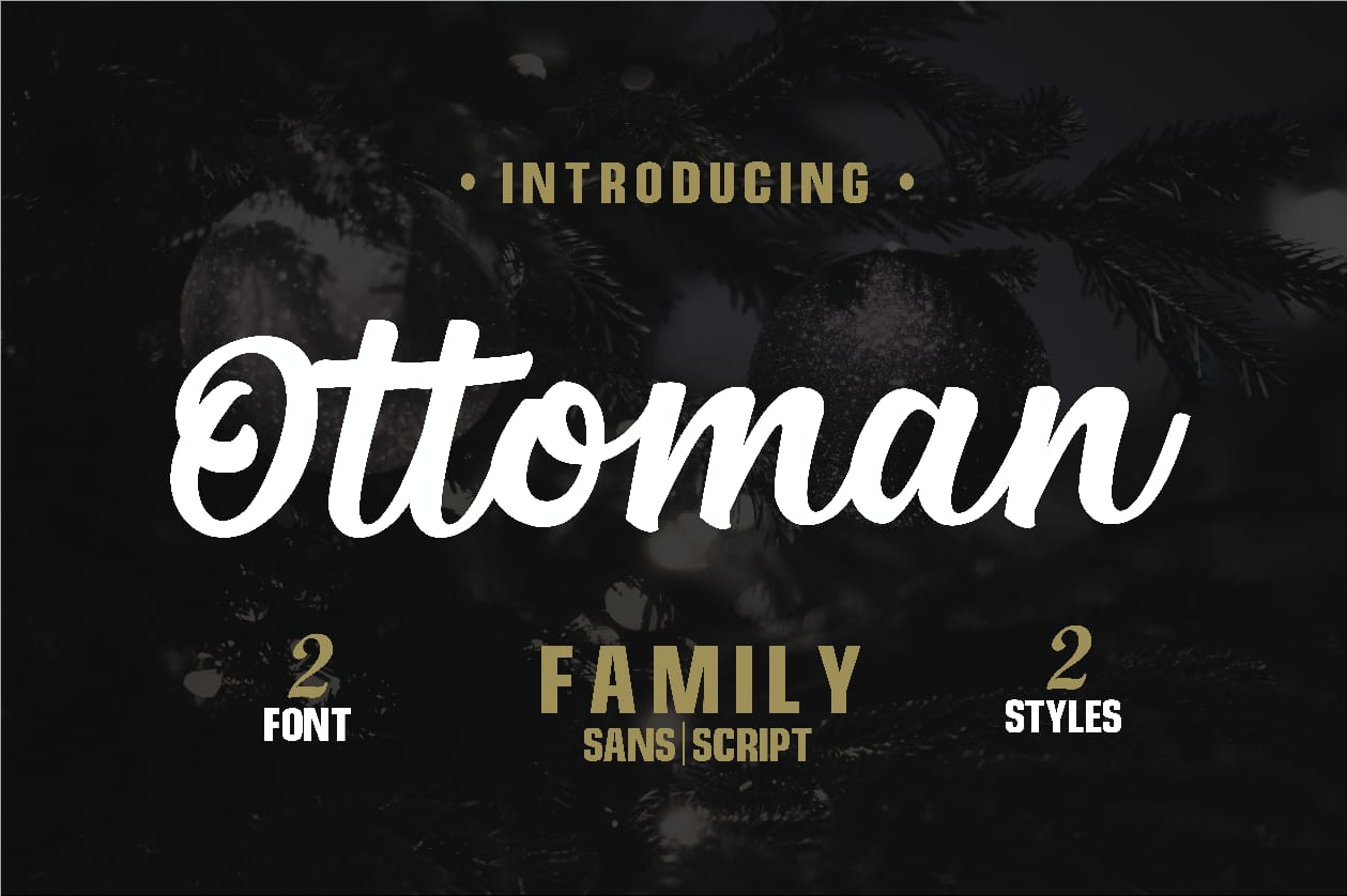 Ottoman Font Duo example image 1