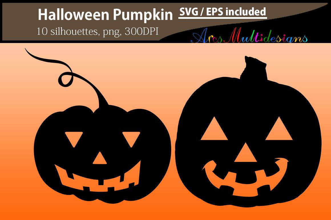Pumpkin silhouettes SVG / Printable Halloween pumpkin EPS / Halloween day clipart / Pumpkin / HQ silhouettes PNG vector / pumpkin svg example image 3