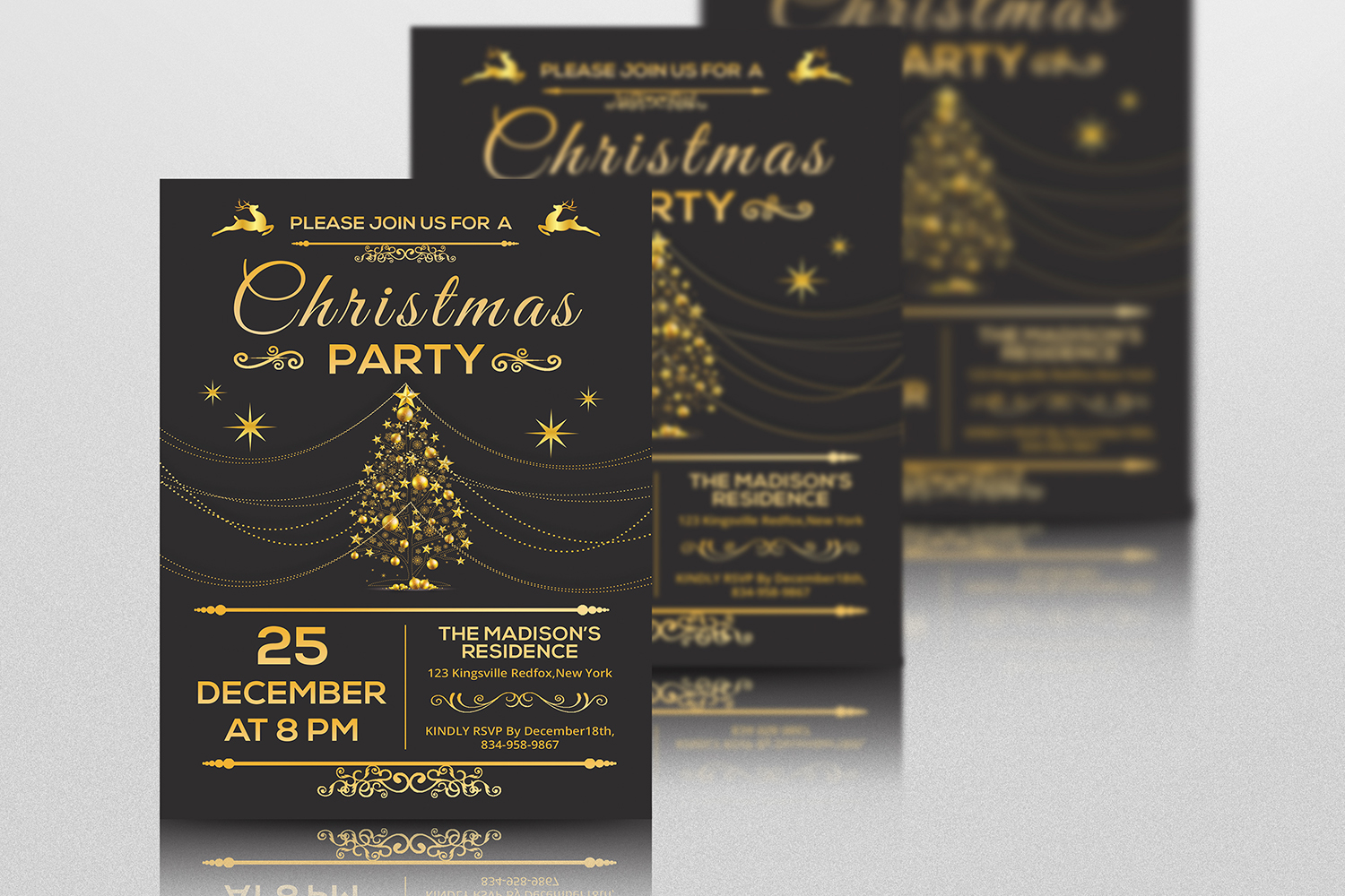Christmas Party Invitation Flyer example image 4