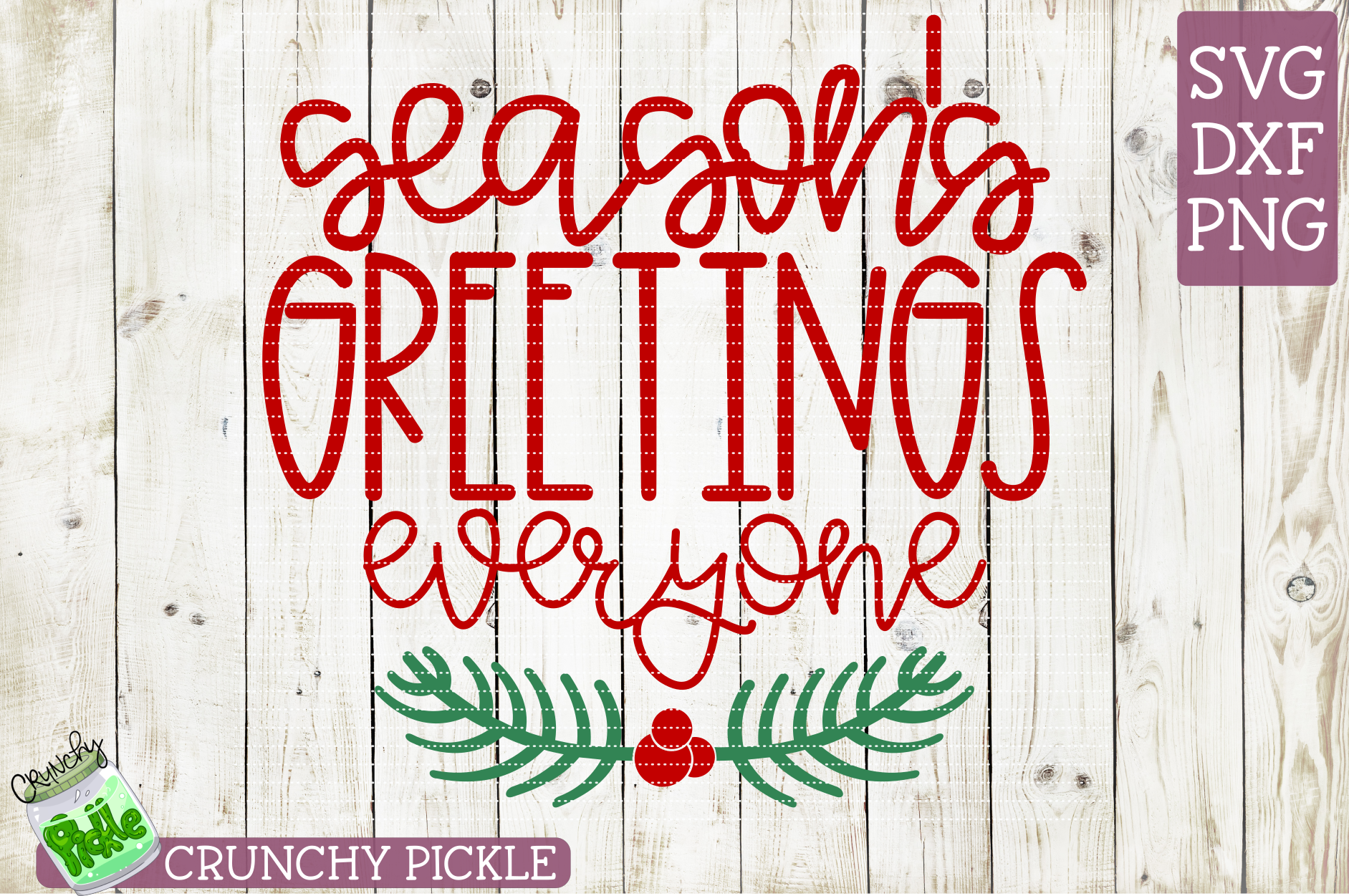 Season's Greetings Everyone SVG example image 2
