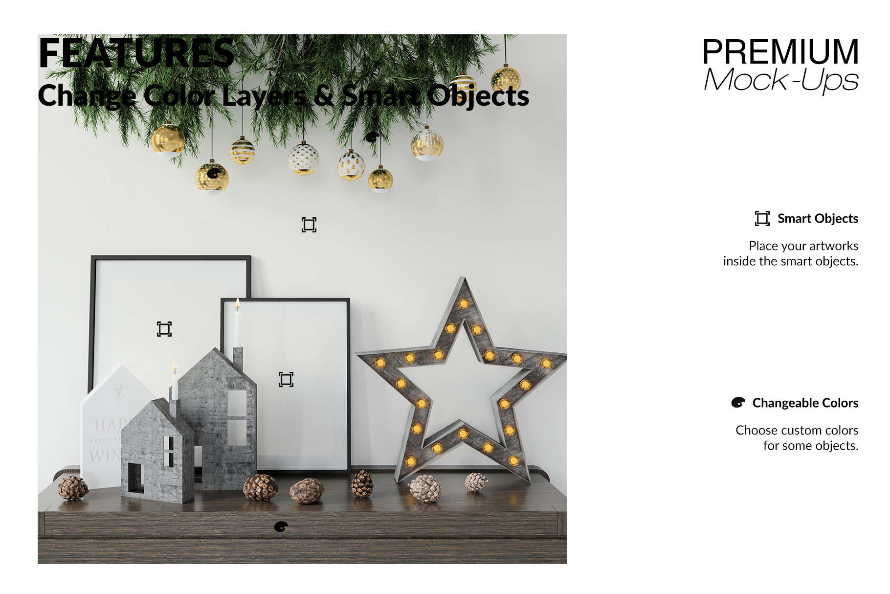 Christmas Frames & Wall Set example image 5