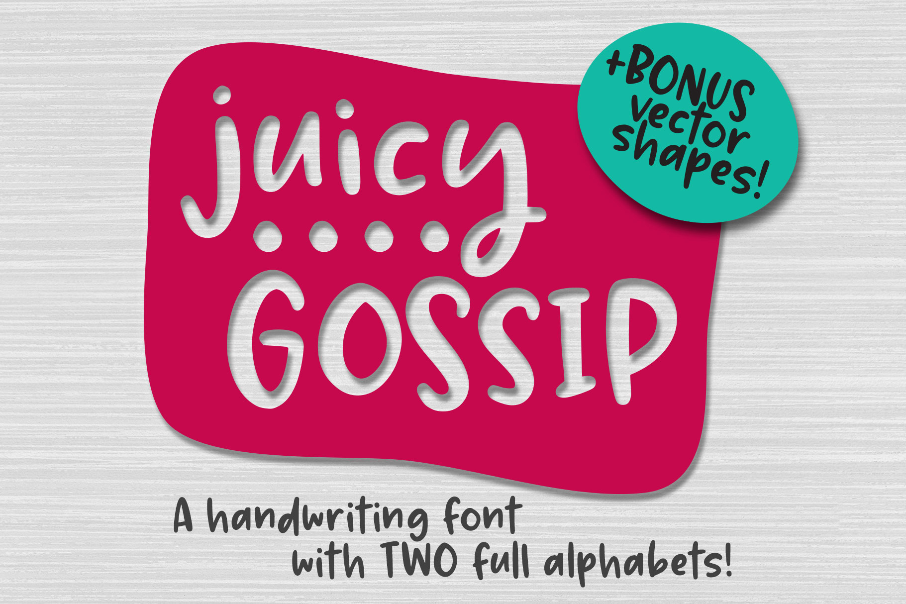 Juicy Gossip - a hand-written font with alts and extras! example image 1