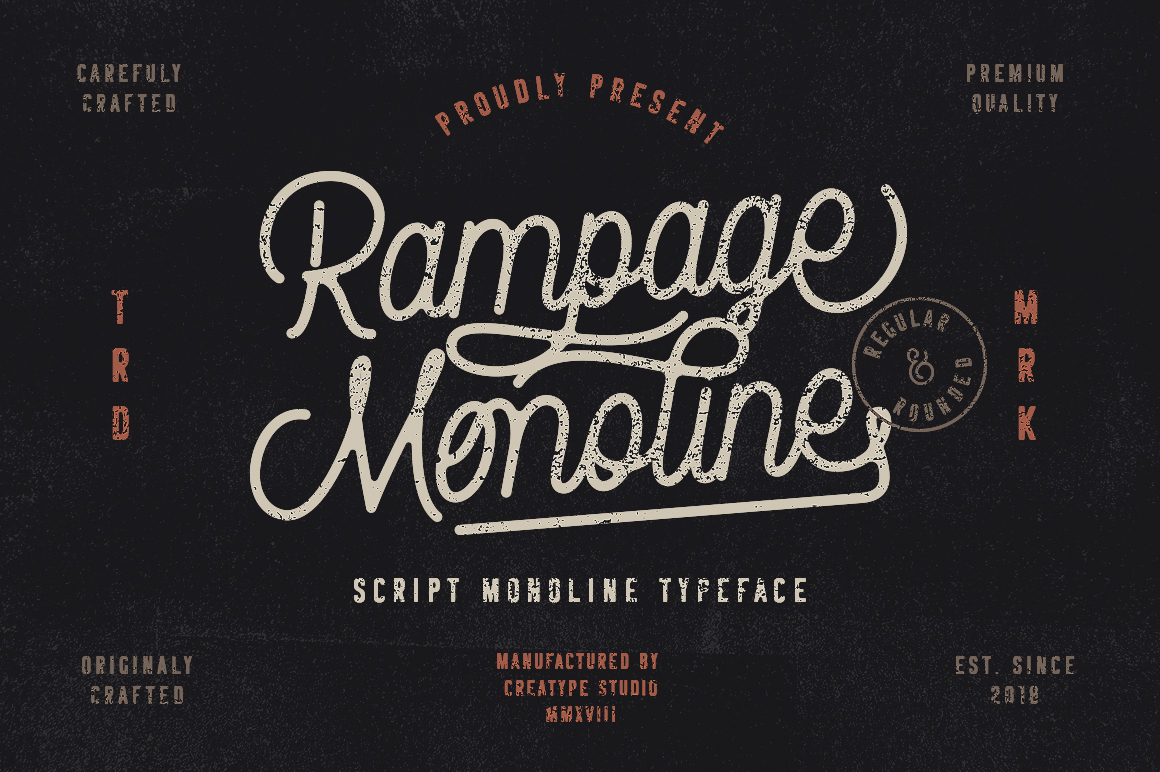 Rampage Monoline Script example image 1