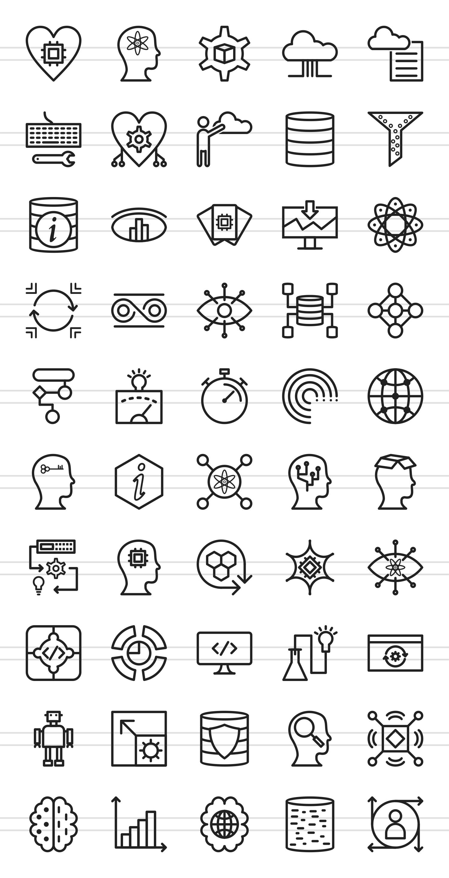 50 Data Analytics Line Icons example image 2