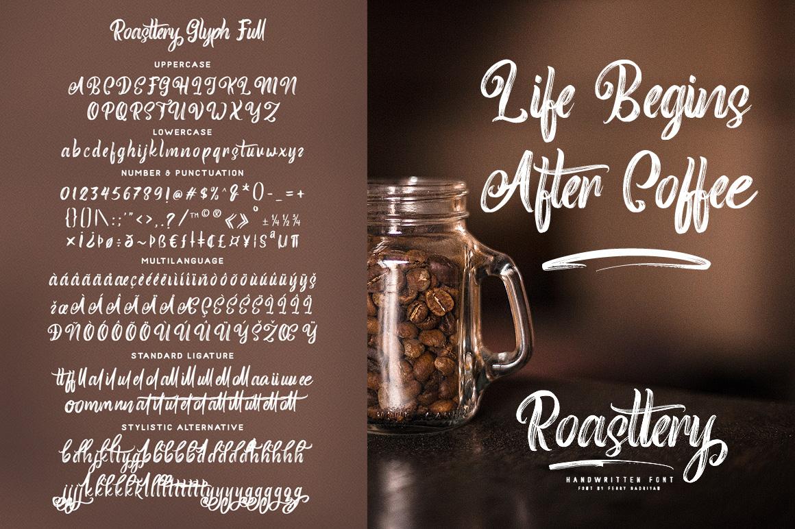 Roasttery - Handwritten Font example image 8