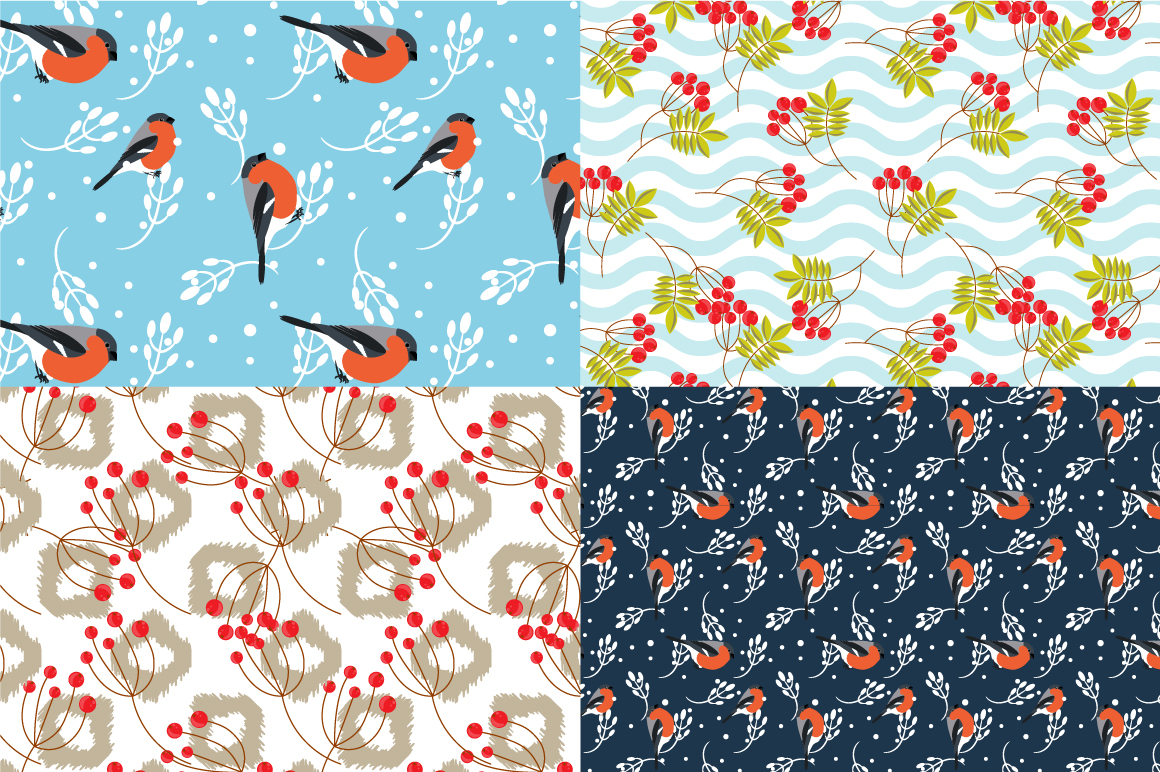 21 Winter seamless patterns example image 4