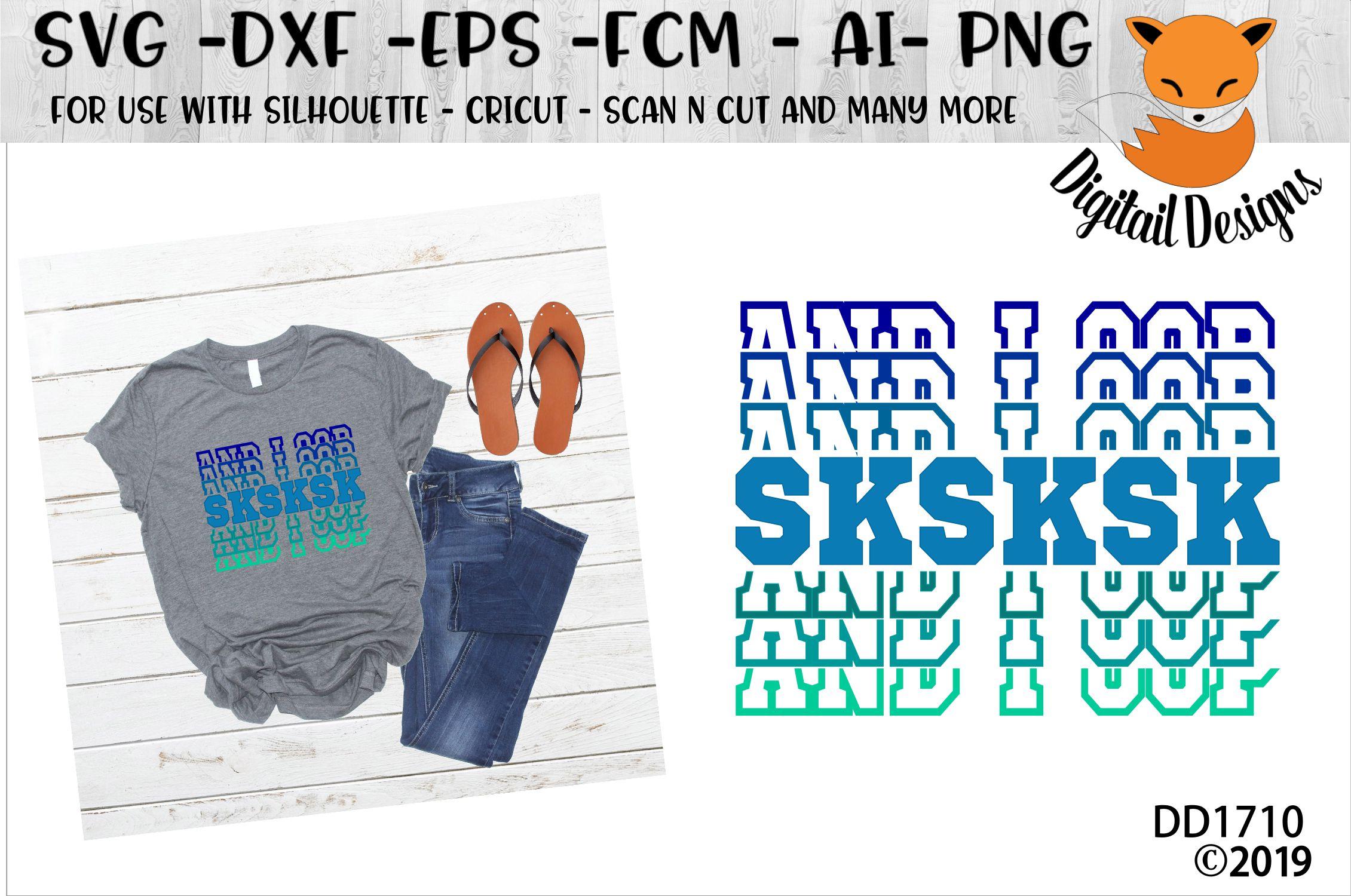 SKSKSK And I Oop Basic Girl SVG example image 1