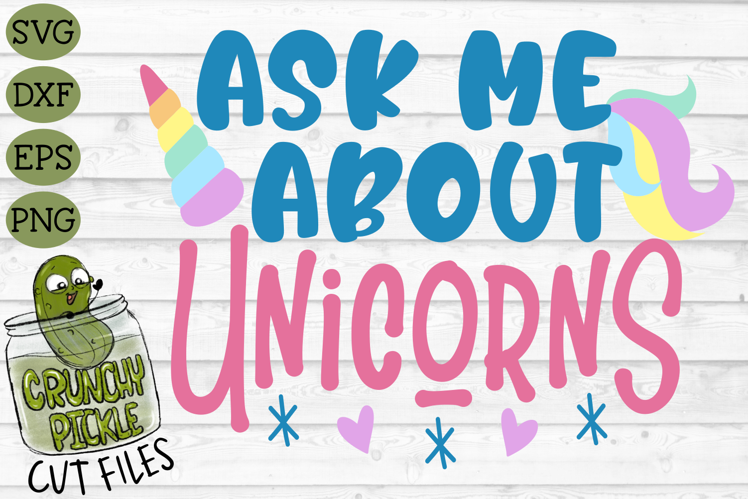 Ask Me About Unicorns SVG example image 2