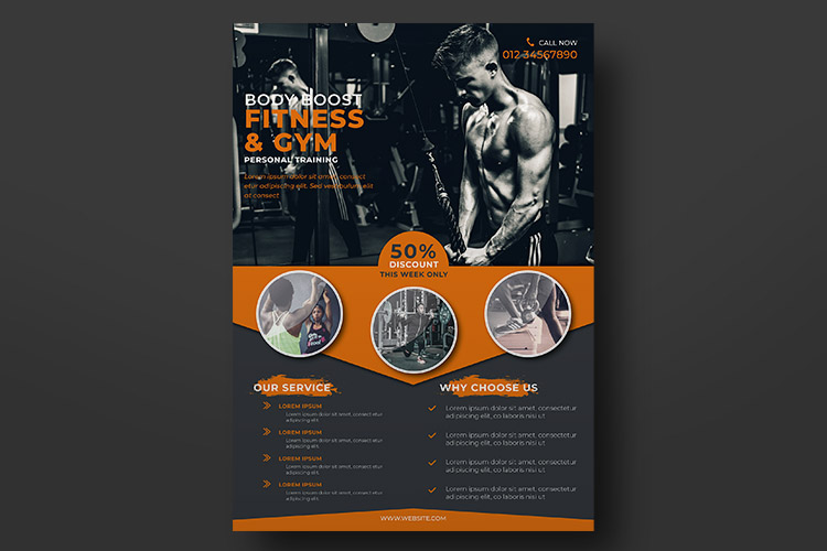 Fitness Flyer Templates example image 4