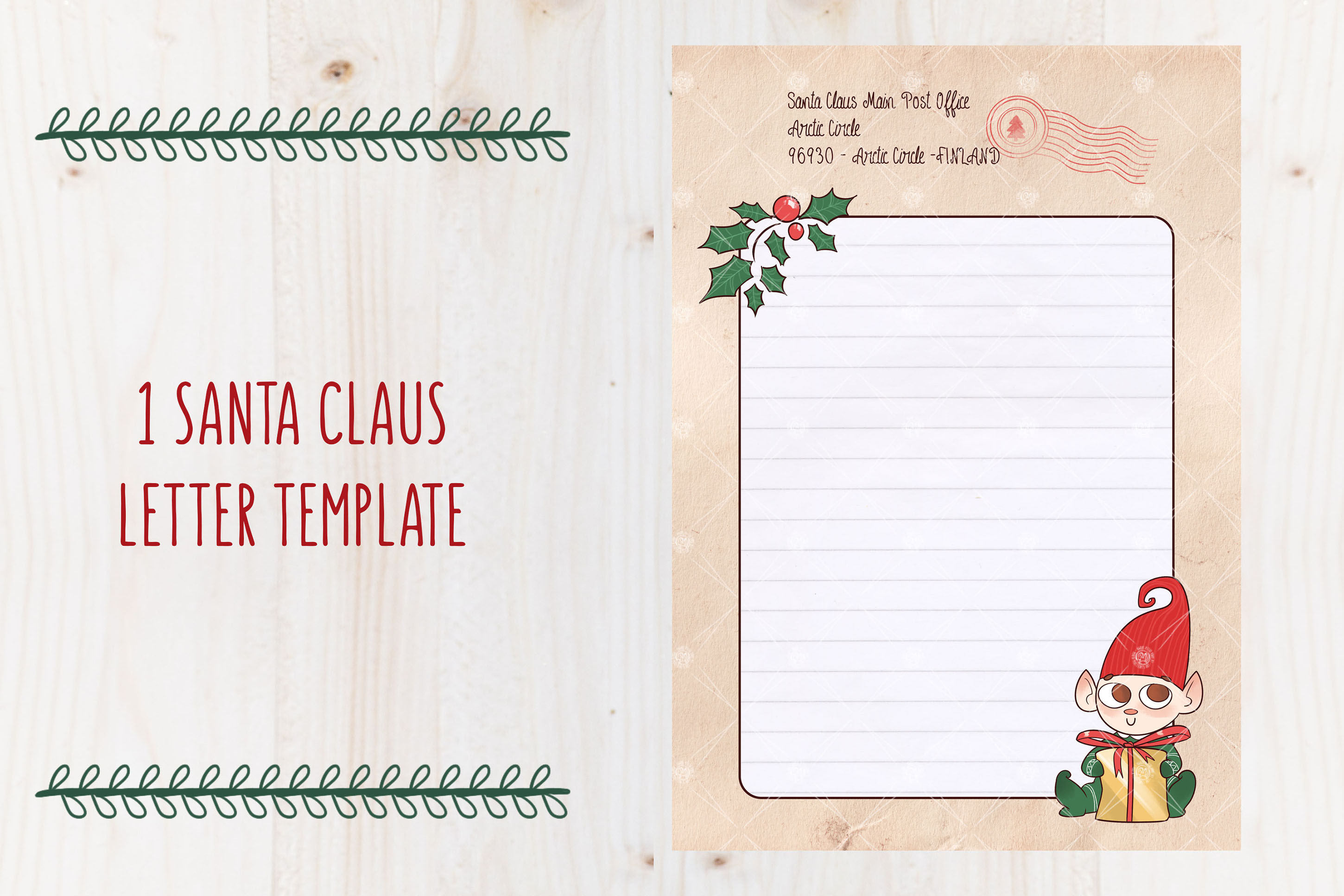 SANTA's LETTER TEMPLATE - Christmas letter by TdT example image 2
