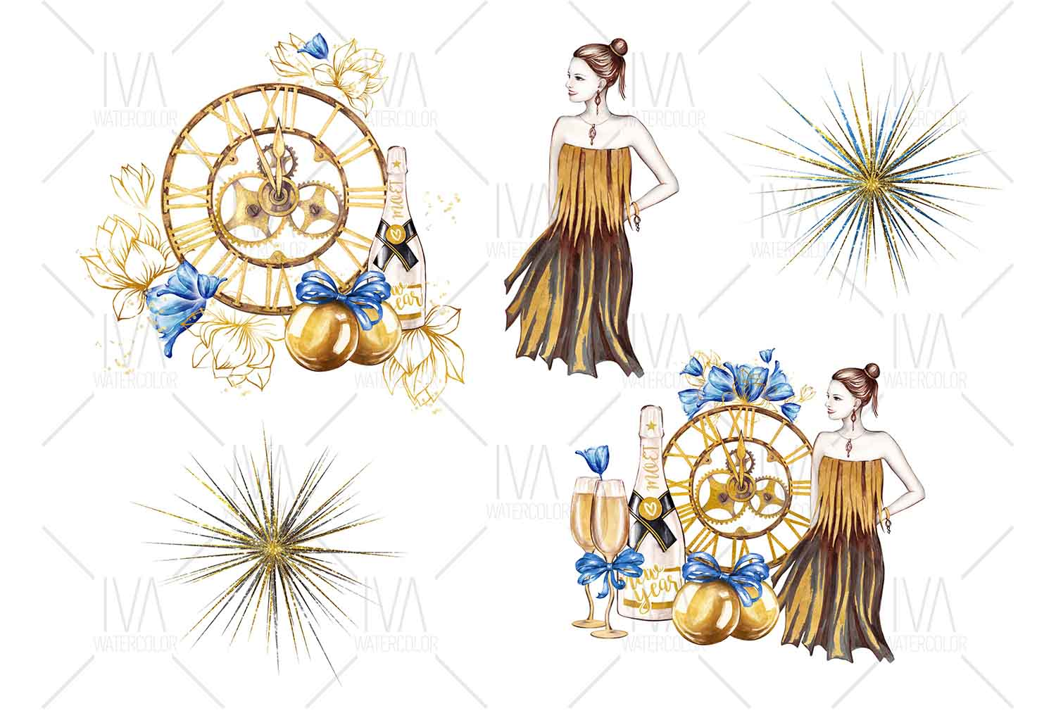 New Year's Eve Clipart example image 4