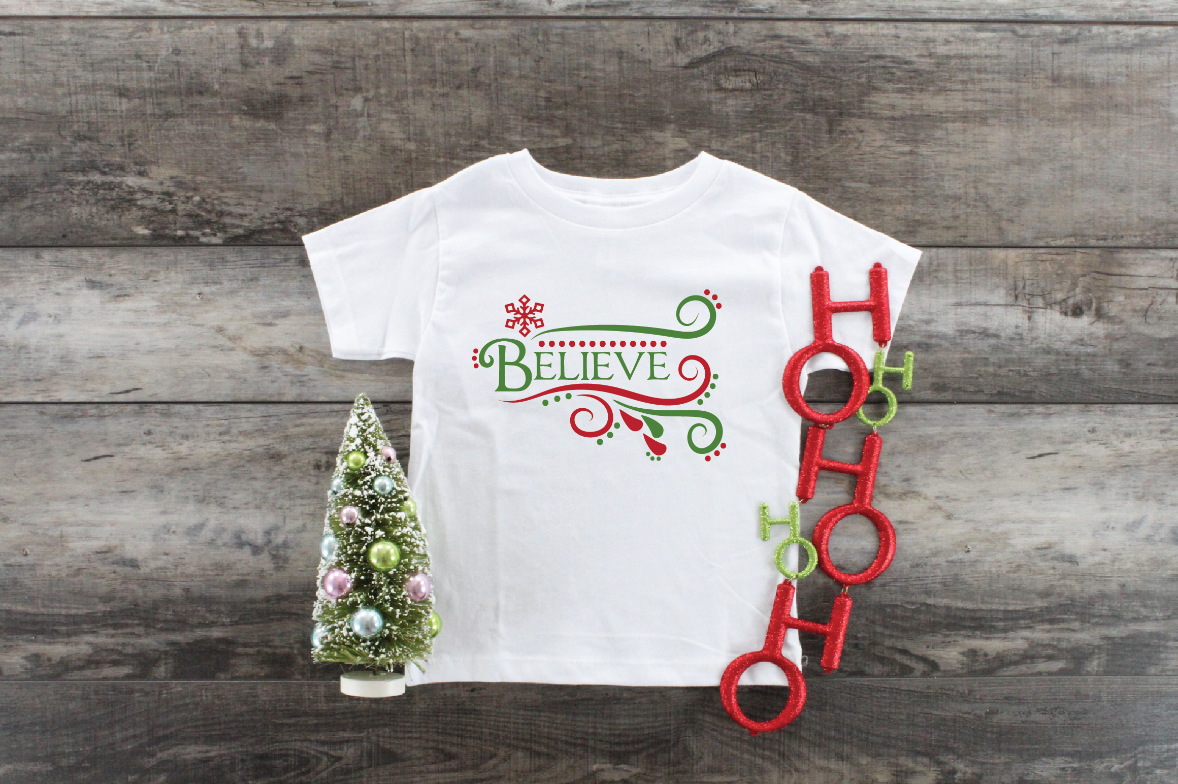 Believe SVG Cut File - Christmas SVG - DXF - PNG - EPS example image 7