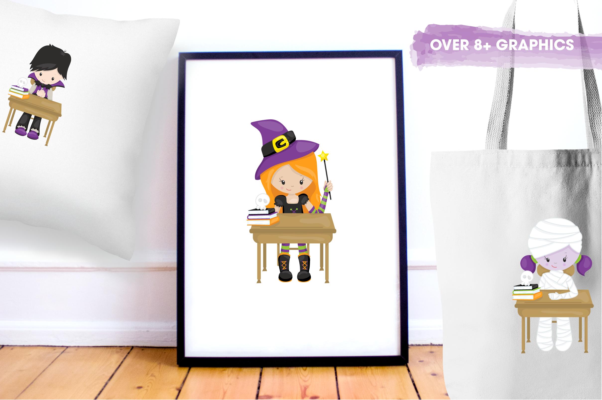 halloween school kids graphics and illustrations example image 5