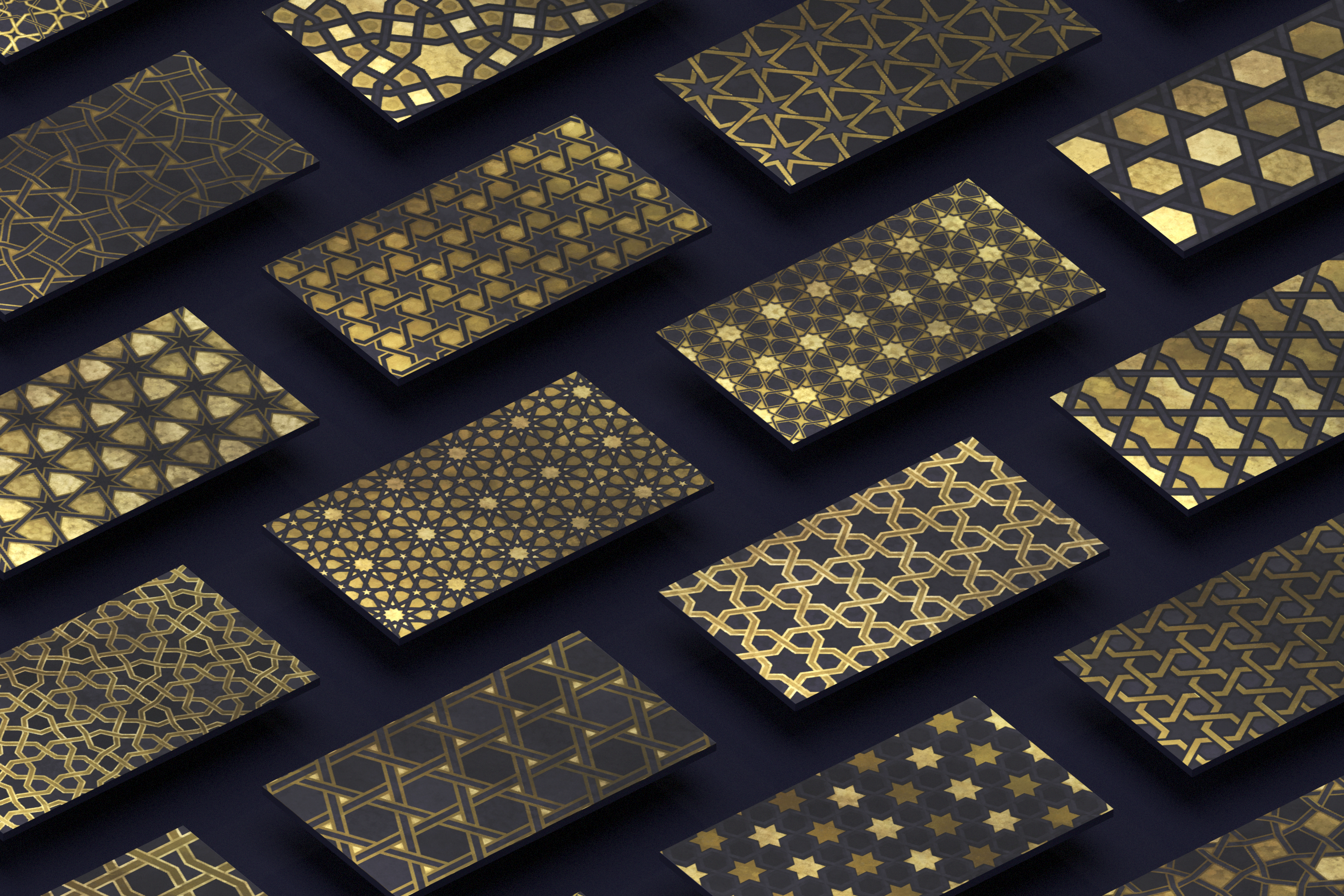 Luxury Patterns - 250 geometric backgrounds example image 6