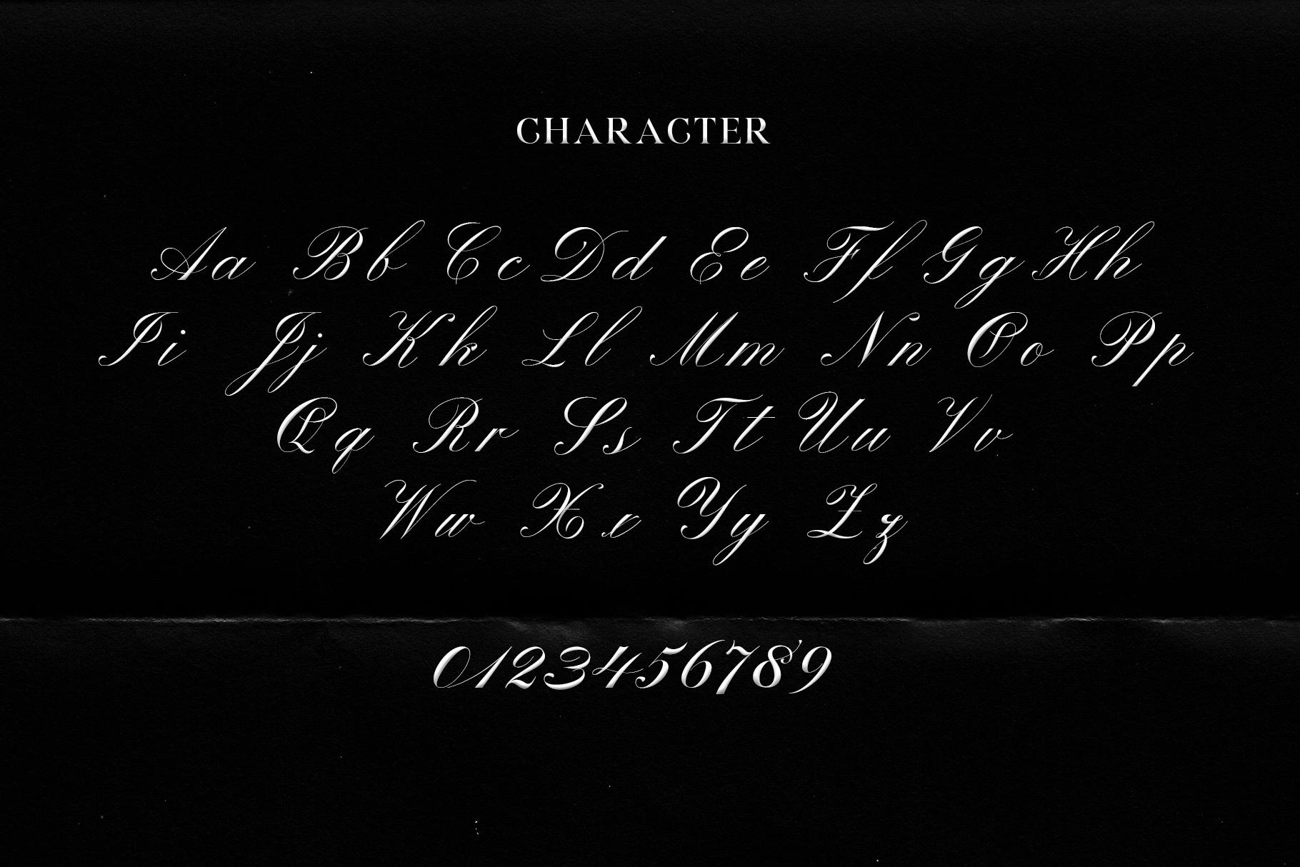 Winterskol Script font example image 7