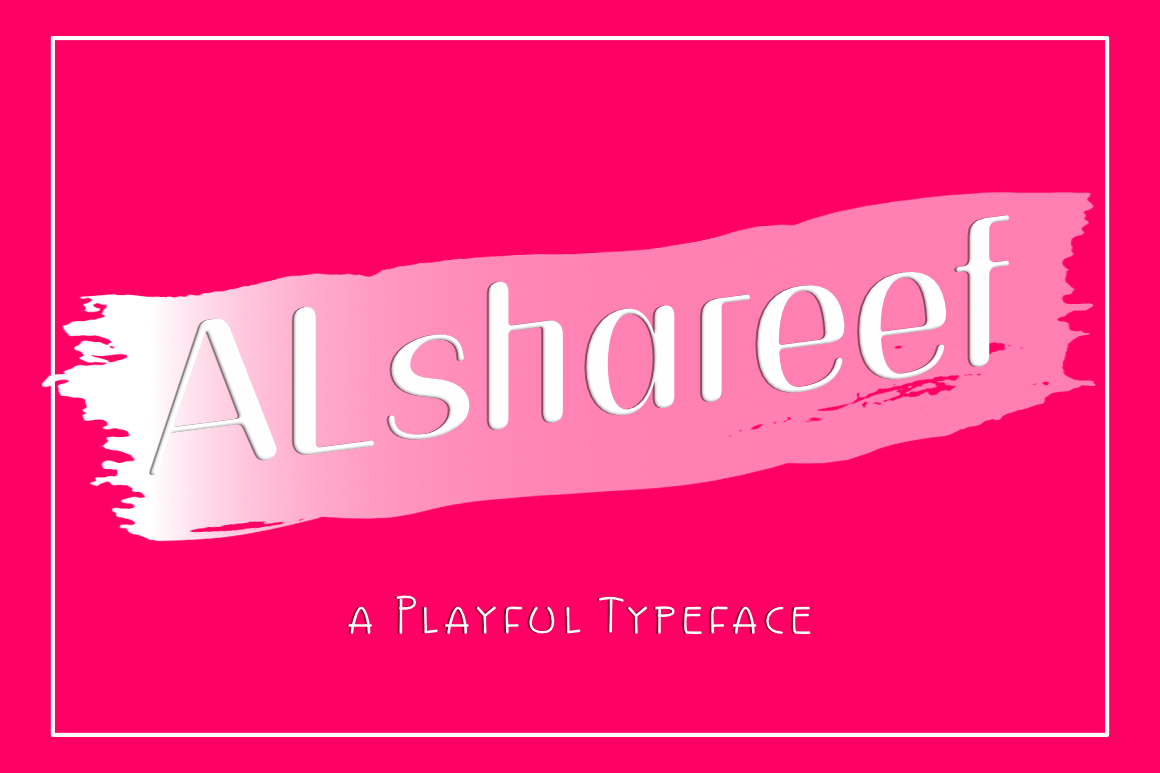 Alshareef - A Playful Typeface example image 2