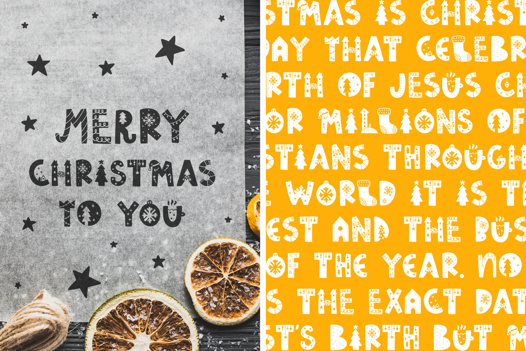 Funny Christmas Typeface! example image 6