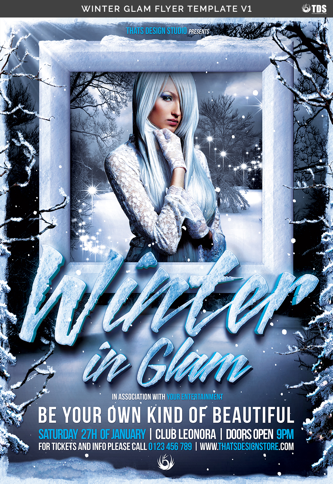 Winter Glam Flyer Template V1 example image 7