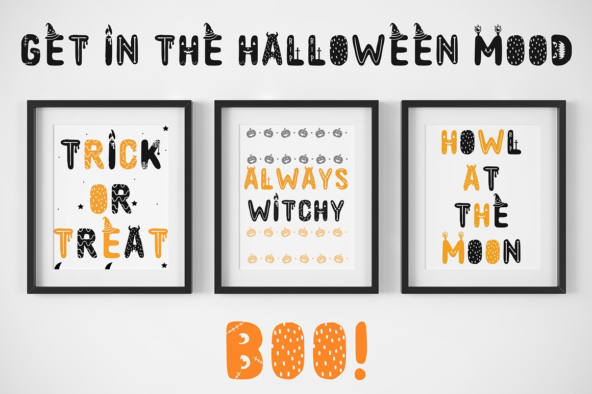 Spooky font with EXTRAS! example image 6