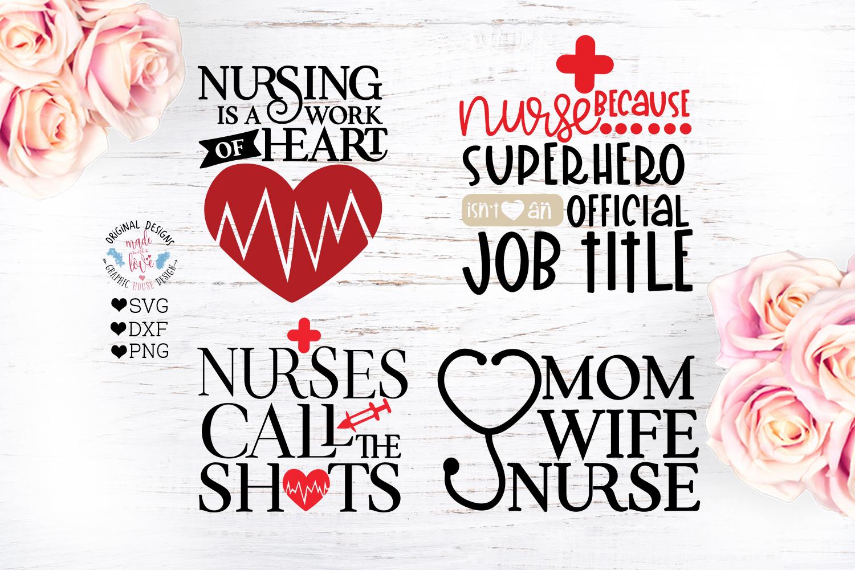 Nurse SVG - Nursing Quotes Bundle example image 3