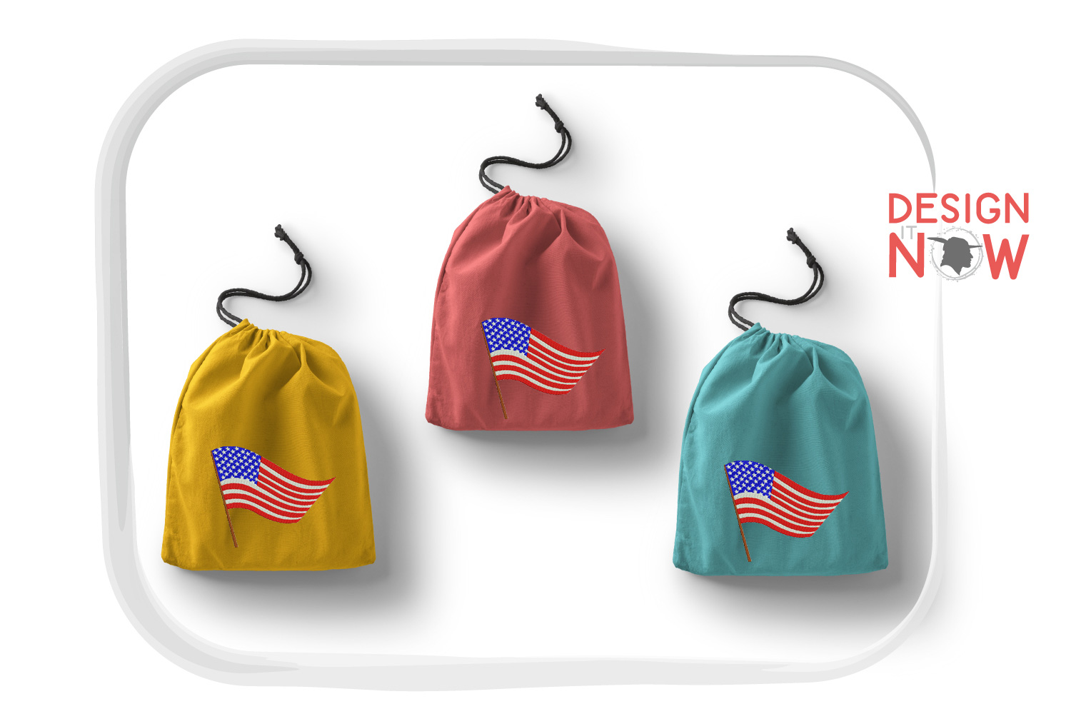 4th Of July Embroidery Design, Independance Day, 4th Of July example image 5