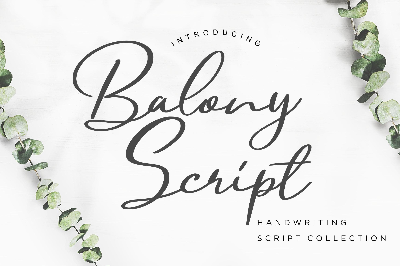 Balony Script Handwriting example image 1