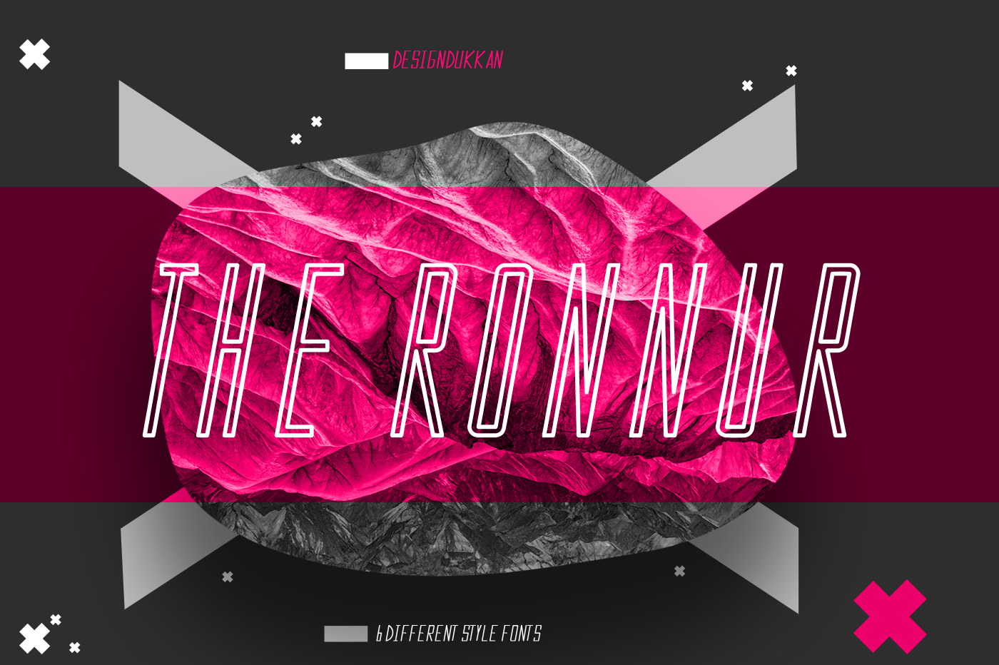 The Ronnur Font Family example image 2