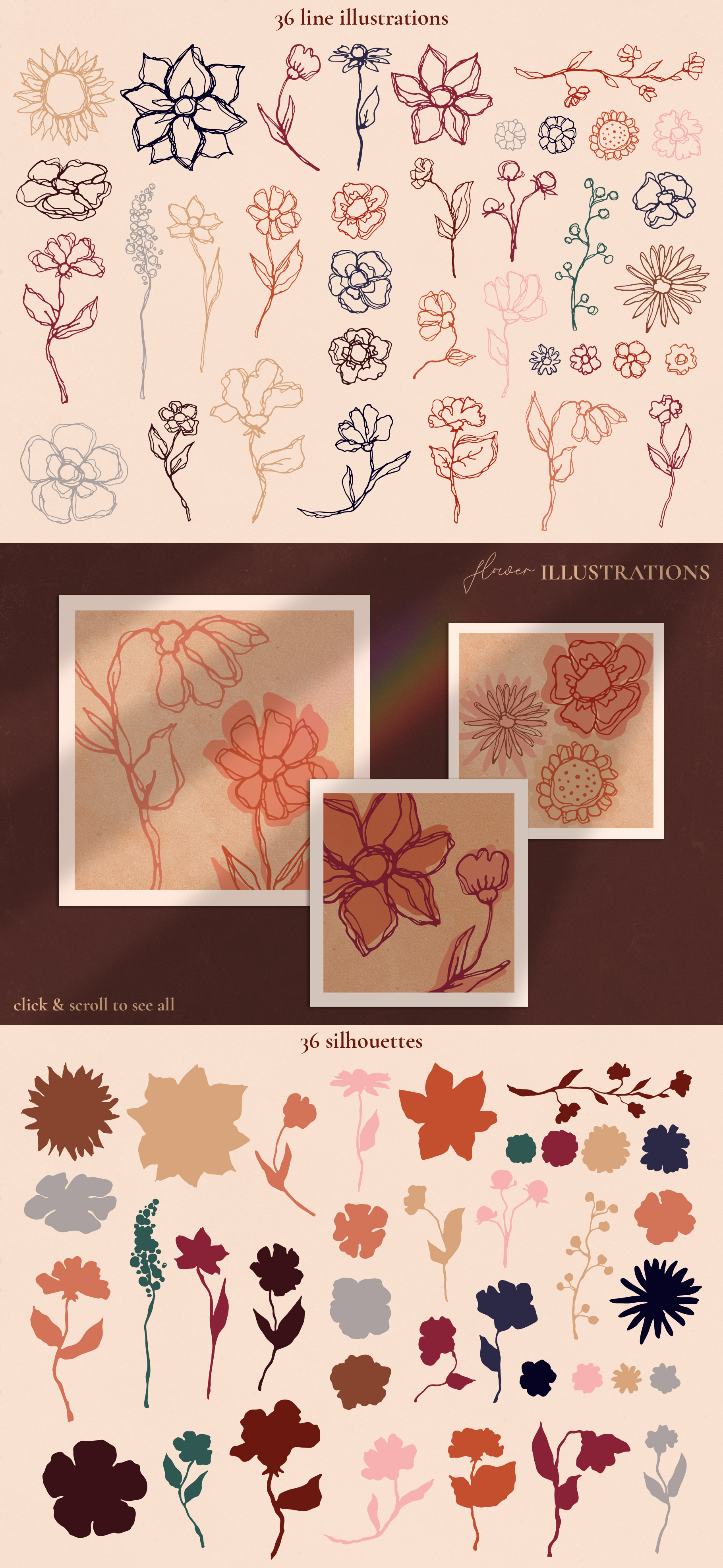Abstract Line Art Design Kit example image 9