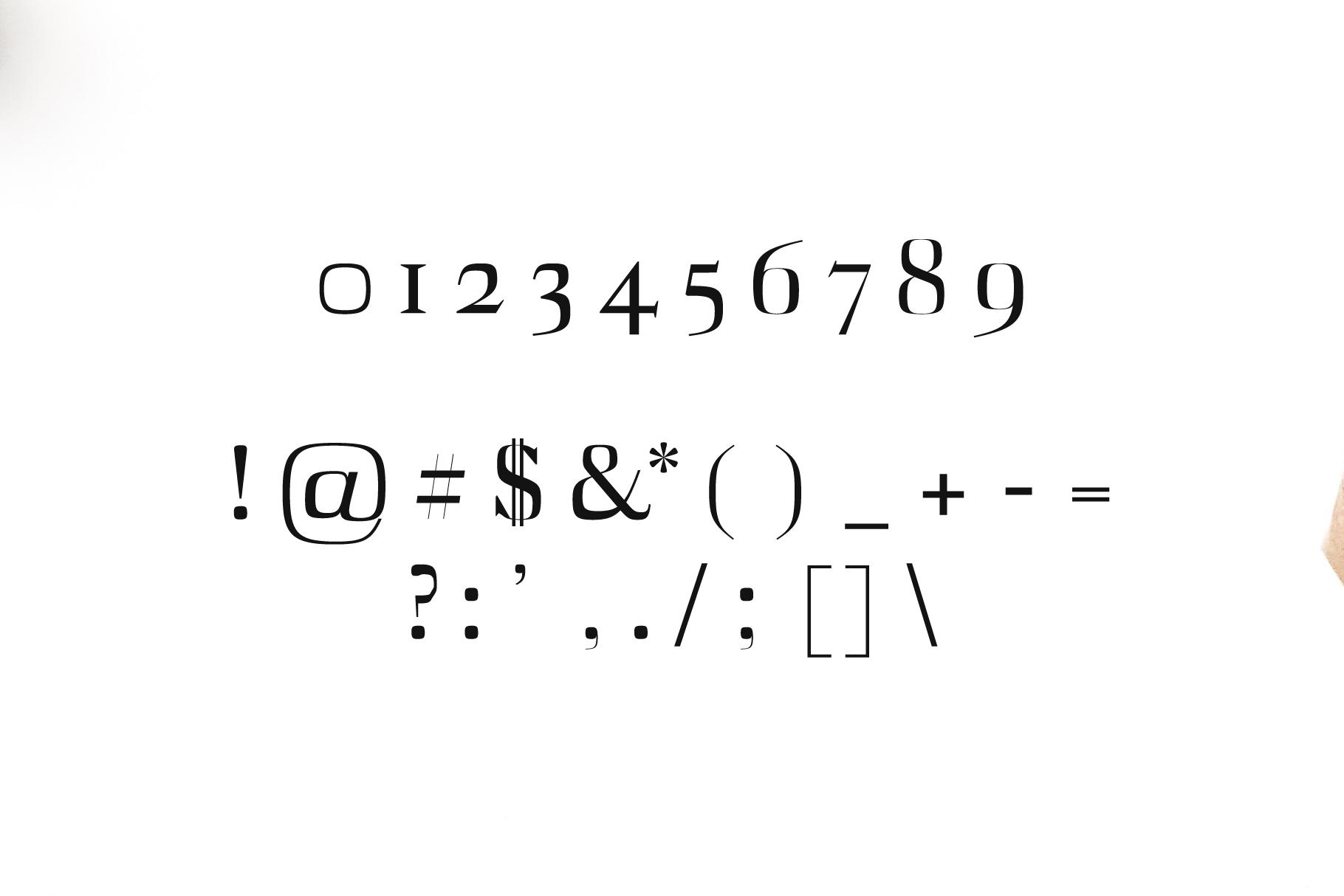 Abner Serif 6 Font Family example image 4