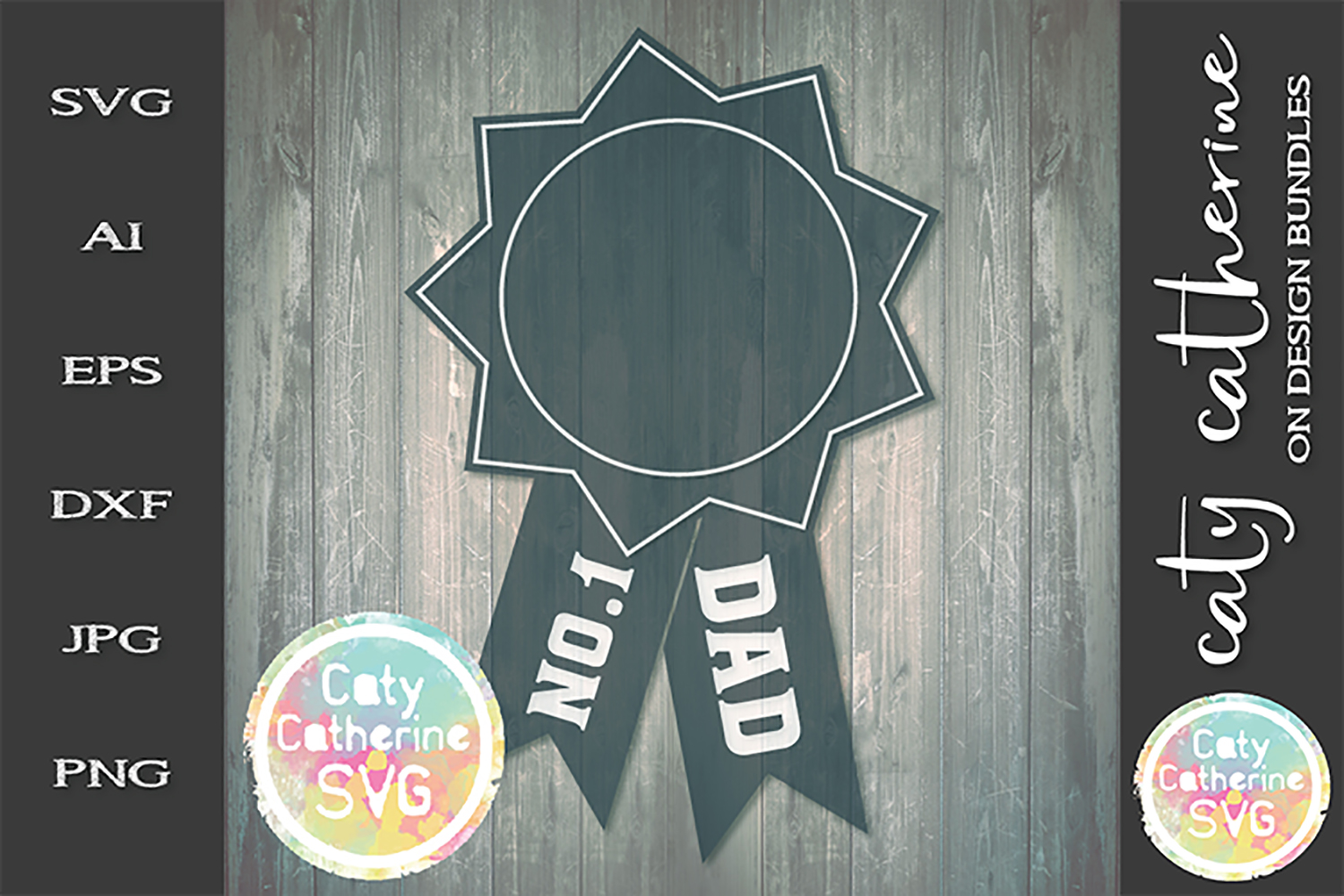 No 1 Dad Father's Day Award SVG Cut File example image 1