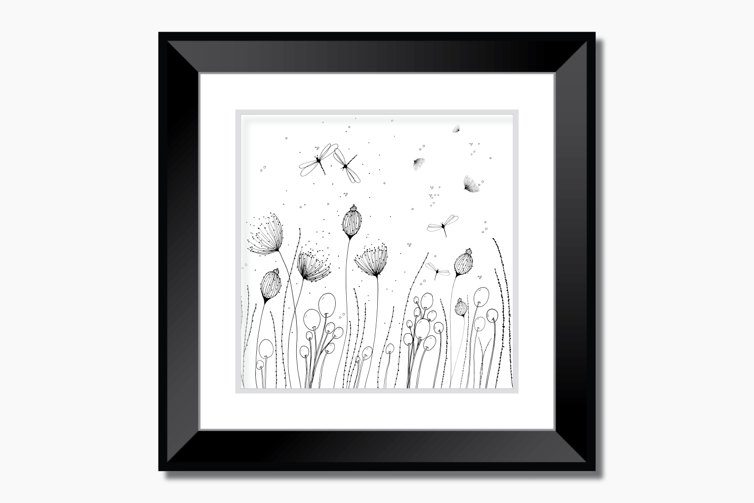 Flowers with Lines and Dots, A1, SVG example image 9