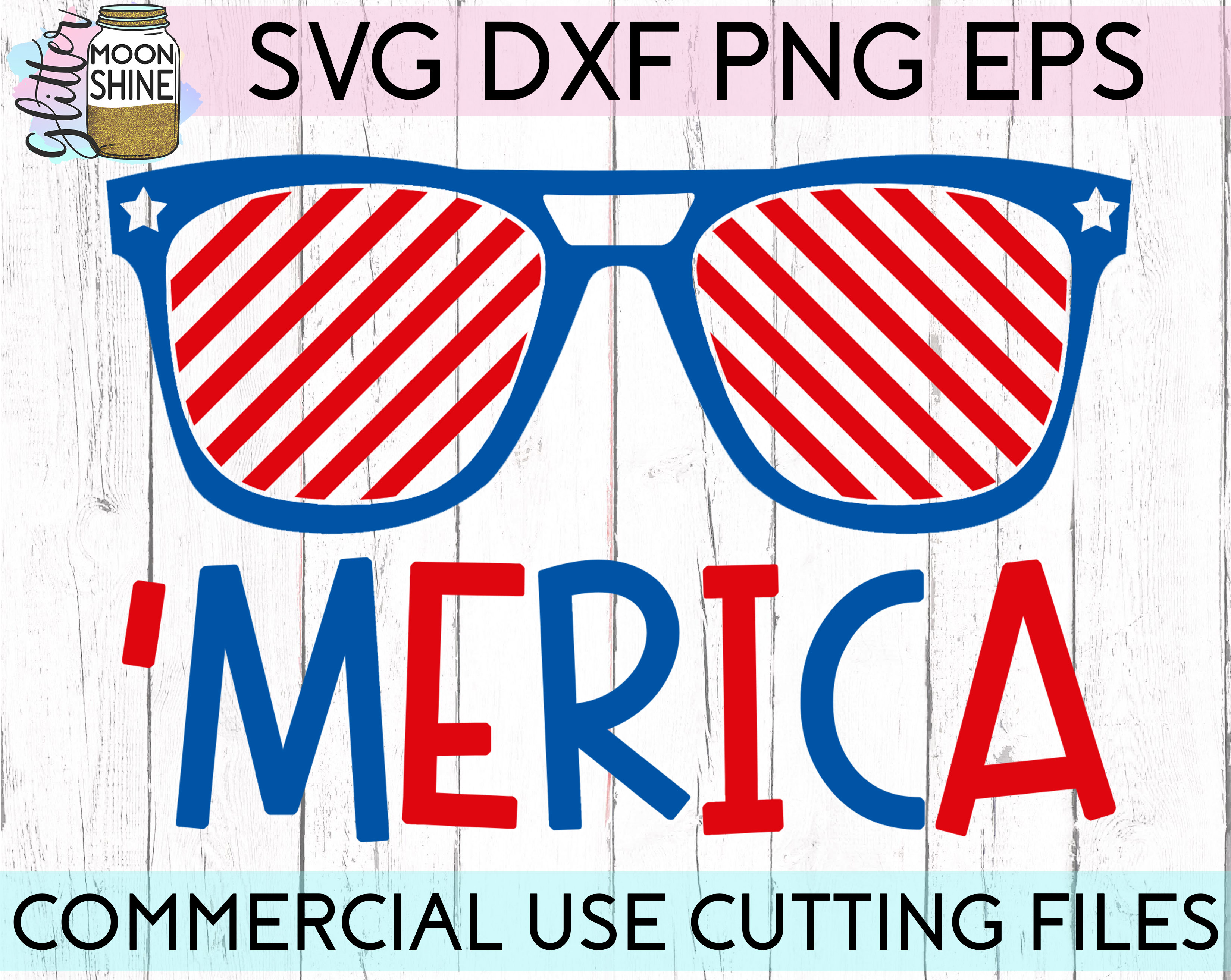 Huge 4th Of July Design Bundle of 23 SVG DXF PNG EPS Cutting Files example image 11