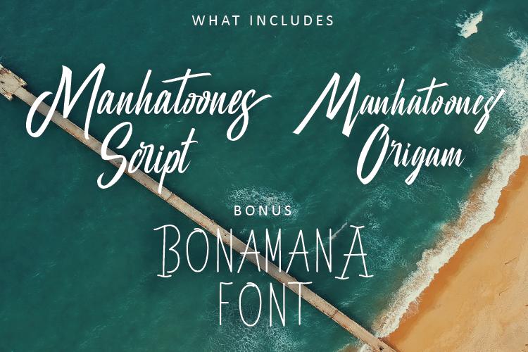 Manhatoone Script, 3 font example image 2