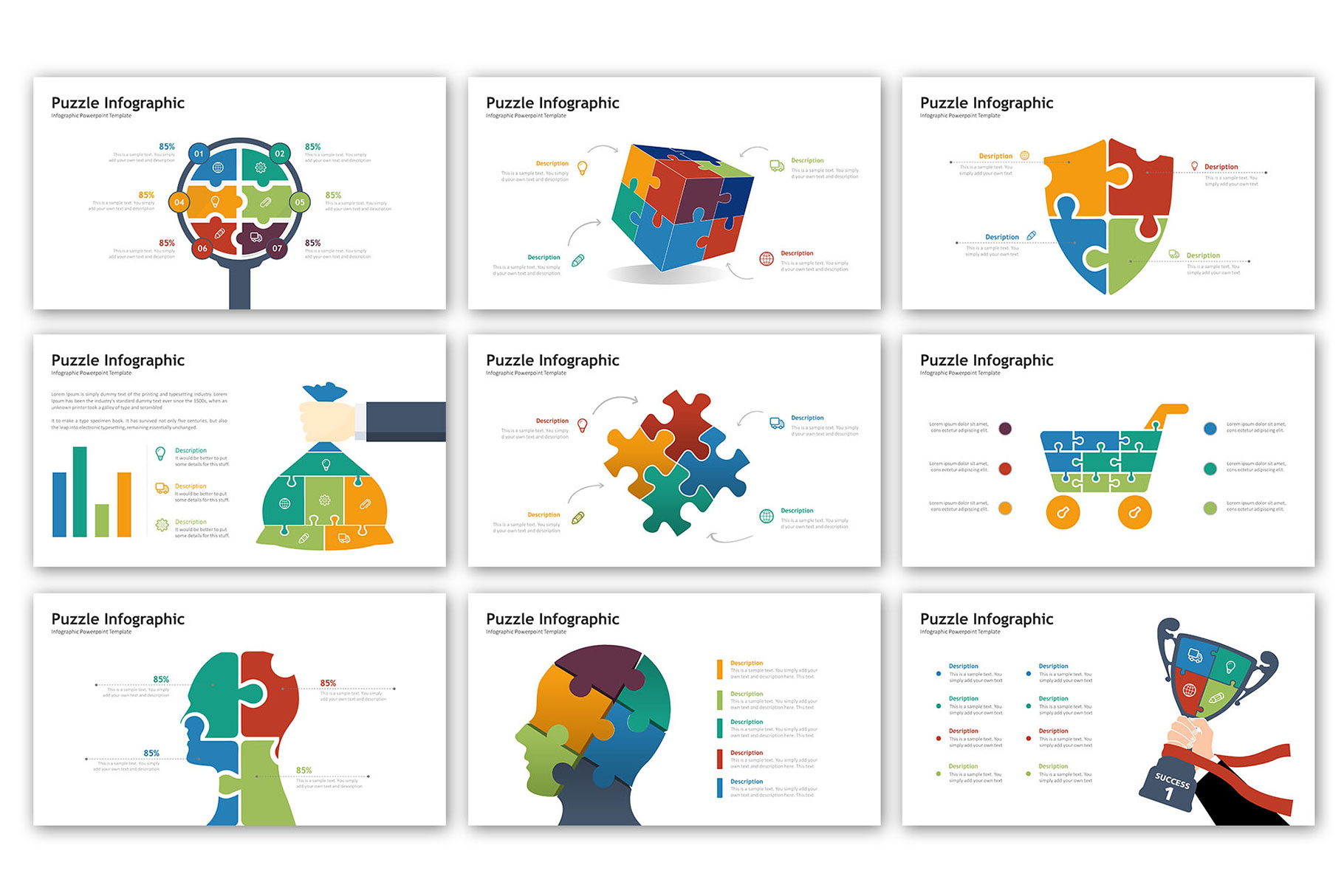Puzzle Presentation - Infographic Template example image 2
