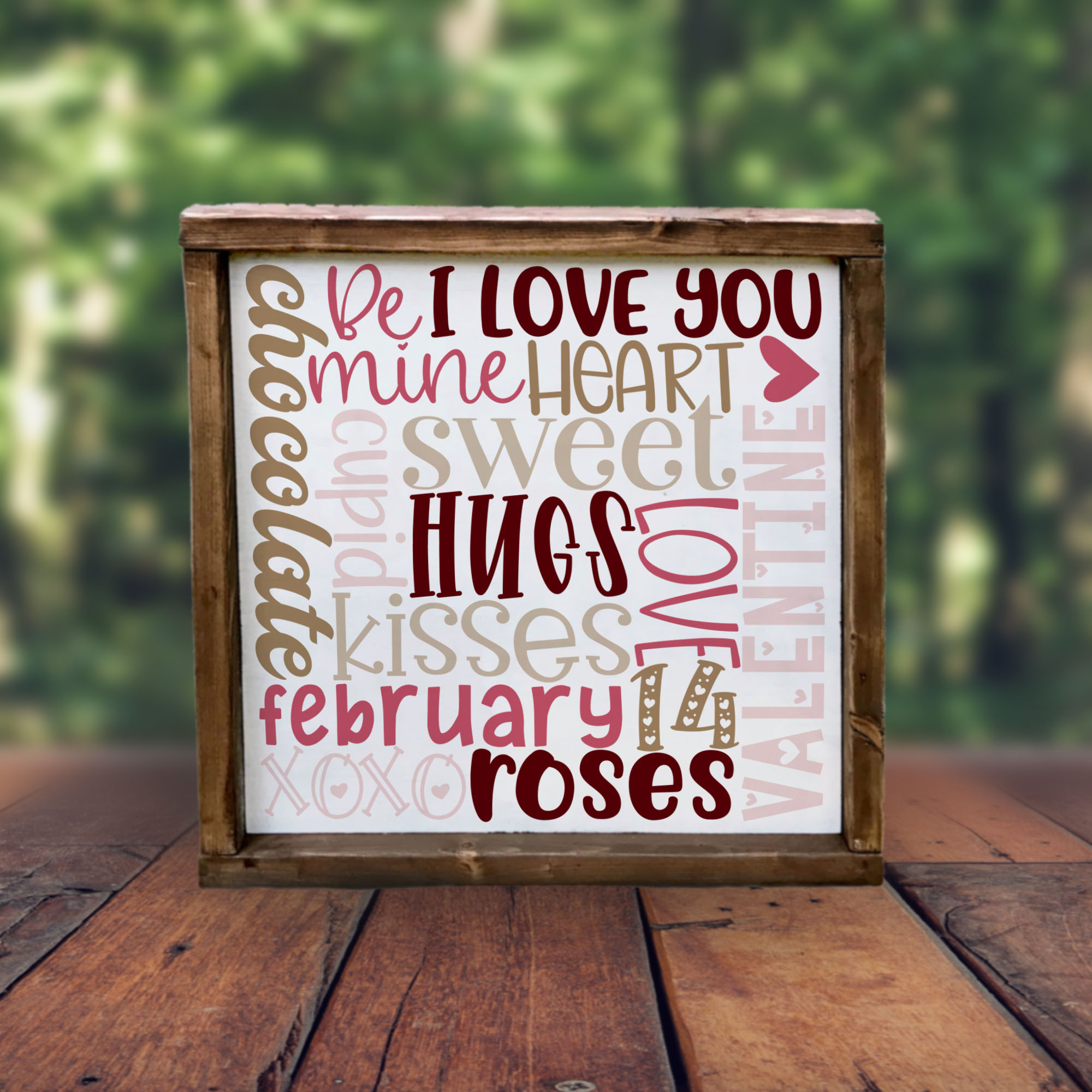 Valentine's Day Word Collage -- Subway Art SVG example image 3