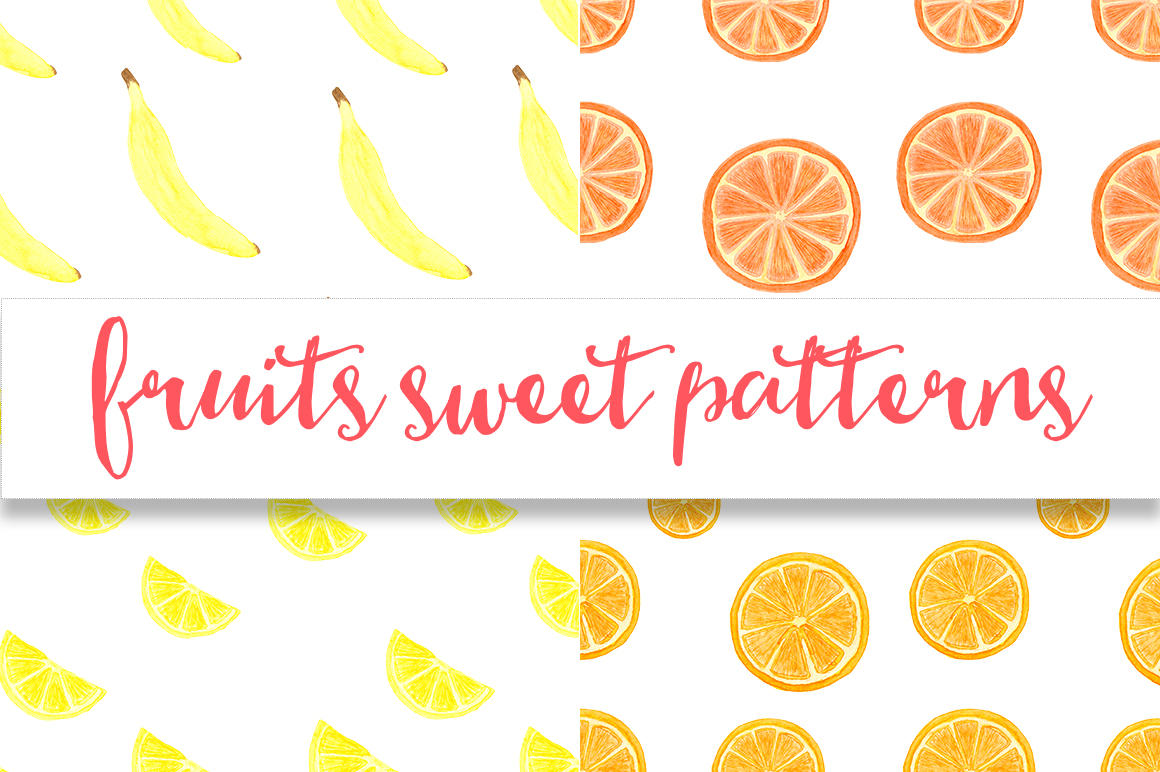 Watercolor sweet fruits example image 4