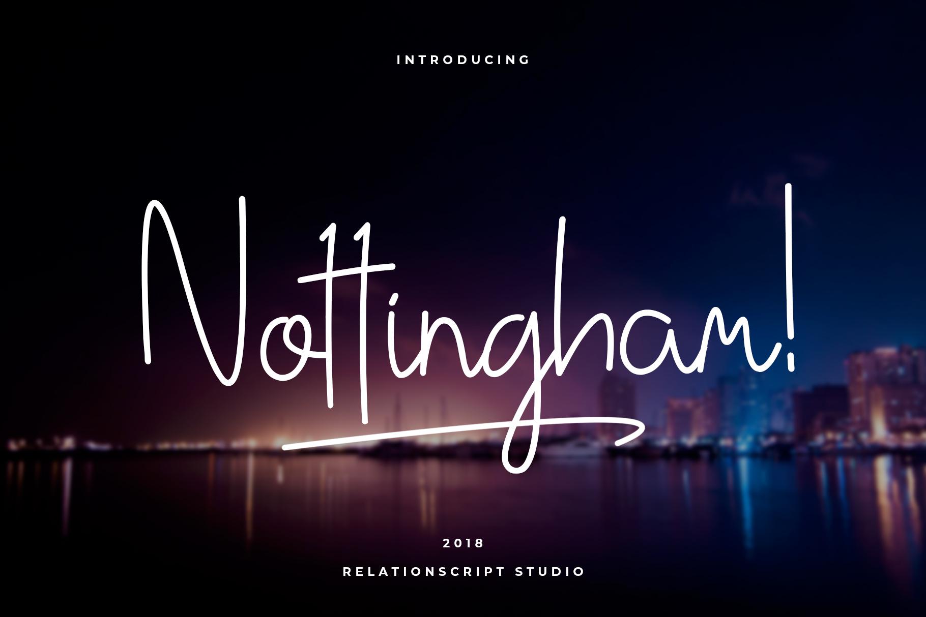 Nottingham Script example image 1
