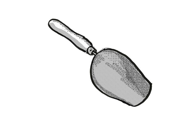 garden scoop Garden Tool Cartoon Retro Drawing example image 1