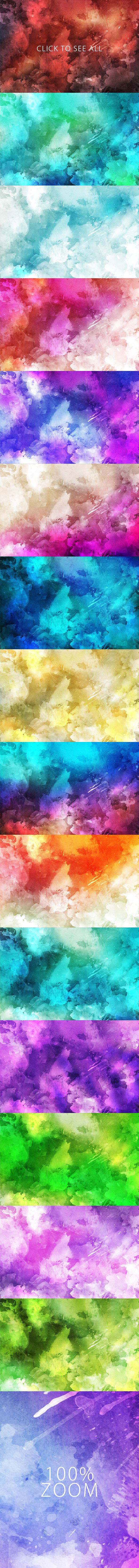 Watercolor Backgrounds 2 & Bonus example image 5