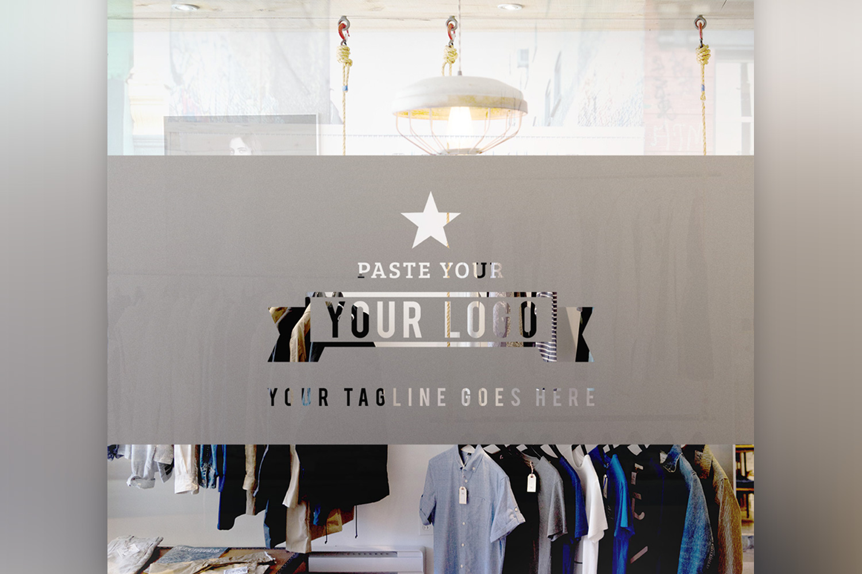 Store Front Vinyl Logo Mockup  example image 5