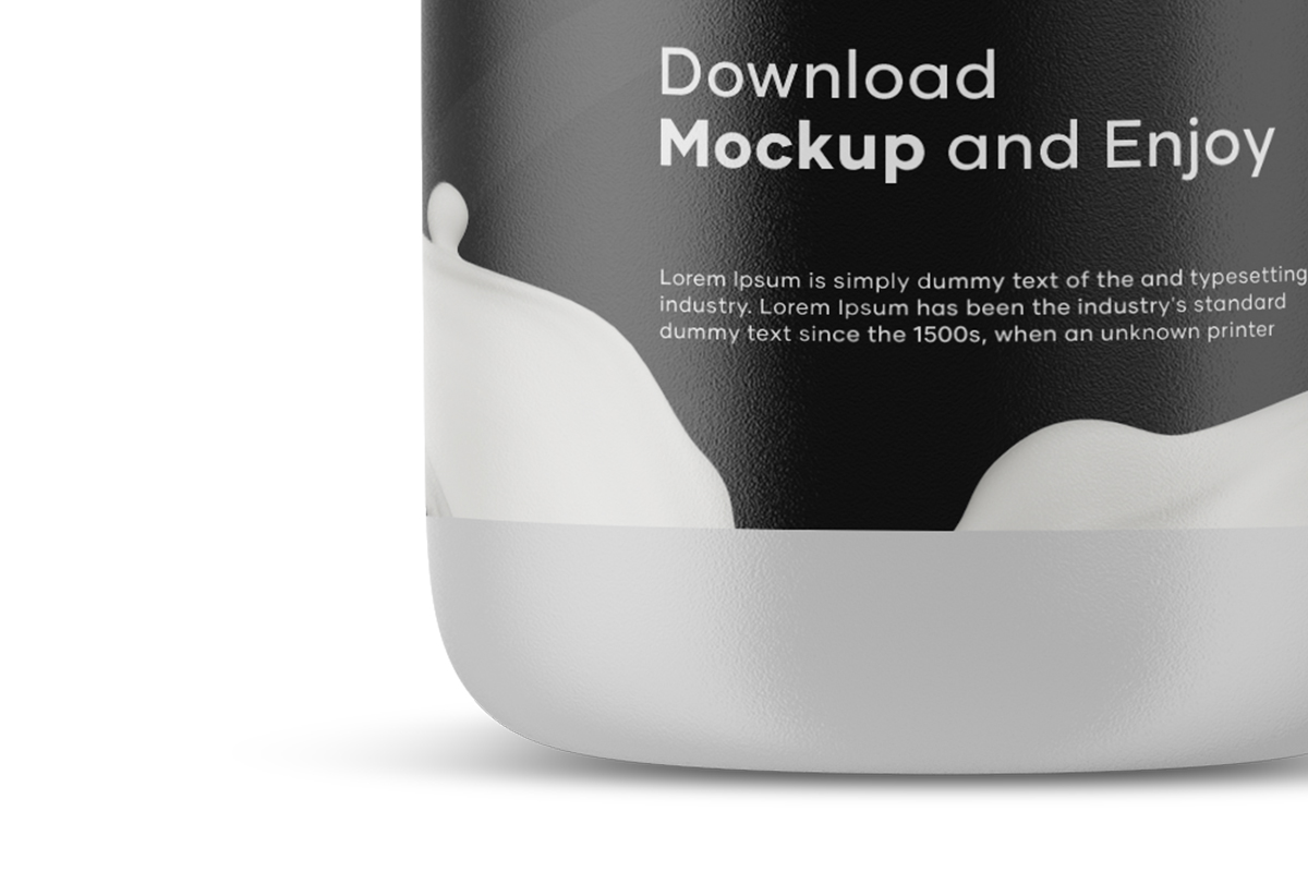 Milk Bottle Mockup example image 4