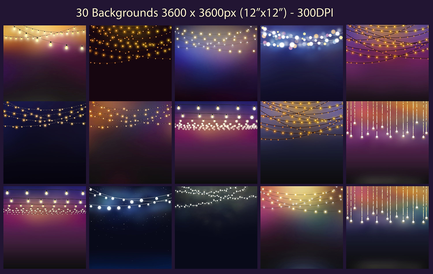 String Lights Clipart example image 3