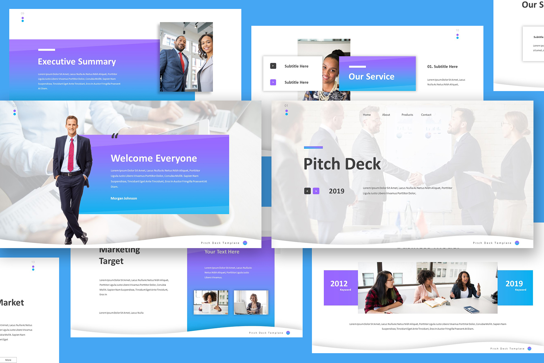 Pitch Deck Google Slides Template example image 3
