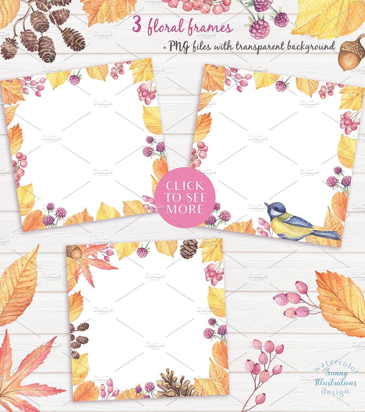Happy Autumn - Watercolor Set example image 4