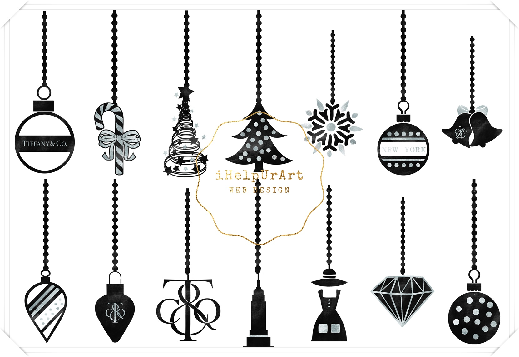 Christmas Ornaments Clipart example image 2