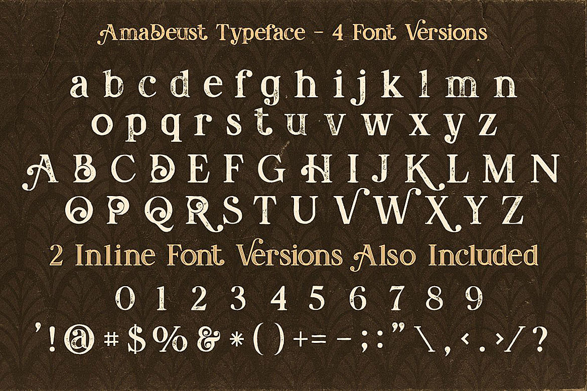 AmaDeust - Display Font example image 2