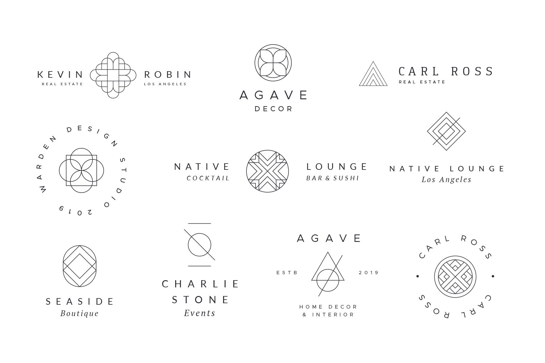Minimal Geometric Logos - Volume 1 example image 6