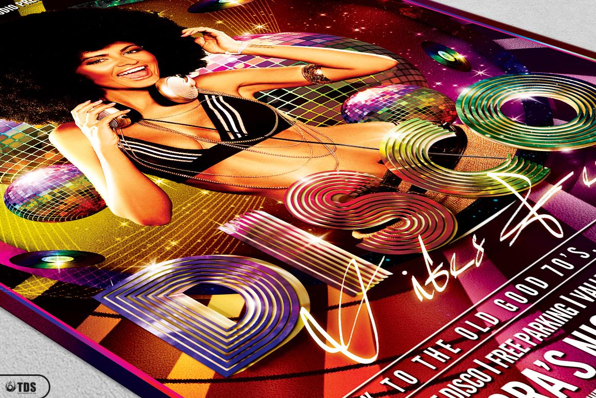 Disco Music Flyer Bundle V1 example image 9